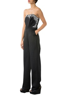 black-beaded-strapless-jumpsuit