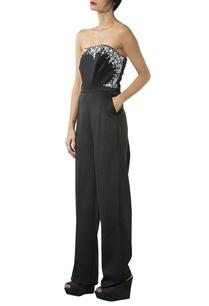 black-beaded-strapless-jumpsuit