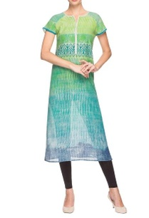light-green-striped-printed-kurta