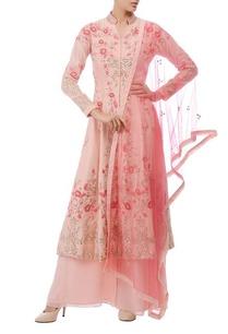 light-pink-coral-floral-embroidered-kurta-set