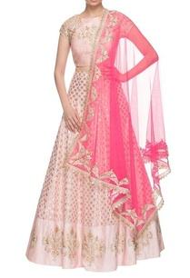 light-pink-hot-pink-brocade-embroidered-lehenga-set