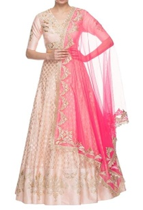 light-pink-hot-pink-embroidered-lehenga-set