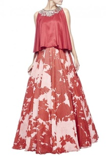 light-pink-red-floral-printed-embellished-lehenga-set