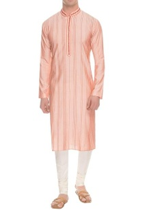 light-pink-rust-pintuck-kurta