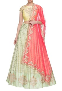 light-yellow-hot-pink-pista-green-embroidered-lehenga-set
