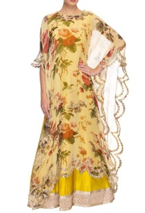 light-yellow-printed-kaftan-with-mustard-embroidered-lehenga