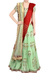 mint-green-gota-patti-lehnga-with-green-embroidered-blouse