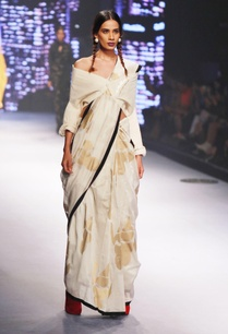 white-printed-sari-shirt-set
