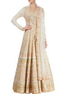 white-embroidered-anarkali-set