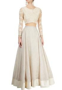 ivory-printed-lehenga-embroidered-blouse