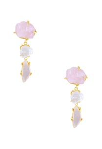 light-pink-ivory-beige-semi-precious-stone-earrings
