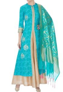 blue-silk-kotta-embroidered-kurta-palazzo-and-dupatta
