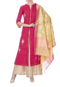 pink-silk-kotta-embroidered-kurta-palazzo-and-dupatta