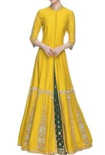 mango-yellow-embroidered-anarkali-with-skirt