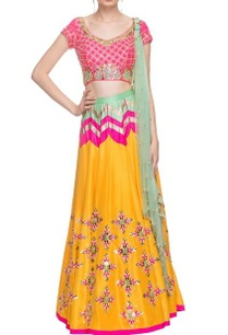 mango-yellow-pink-embroidered-lehenga-set