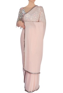 baby-pink-sari-with-blouse