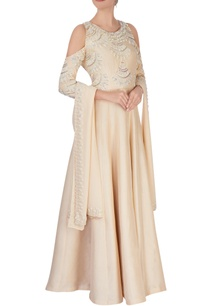 cream-embroidered-anarkali-with-dupatta