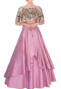 salmon-pink-lehenga-sequin-embellished-blouse
