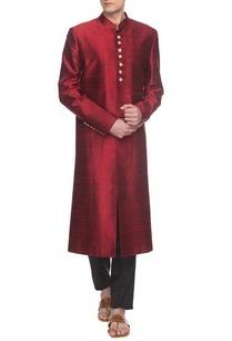 maroon-sherwani-set