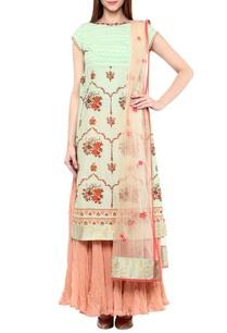 mint-rose-pink-printed-kurta-set