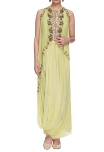 mint-green-draped-dress-with-embellished-cape