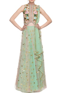 mint-green-pink-two-toned-lehenga-set-with-thread-work