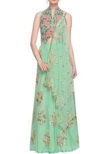 mint-green-sequin-embellished-lehenga-set