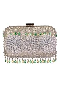 silver-floral-embellished-clutch