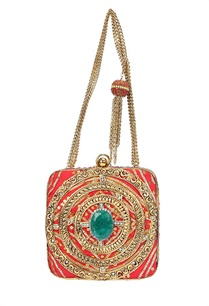 pink-embellished-clutch-with-turquoise-stone