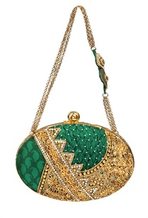 emerald-green-and-gold-embroidered-clutch