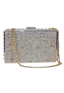 beige-chain-and-dimante-embellished-clutch