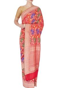 red-bandhani-sari