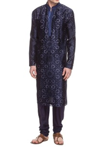 navy-blue-motif-printed-kurta-set