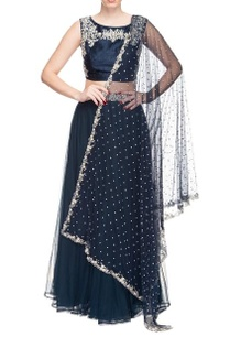 navy-blue-sequin-embellished-lehenga-set