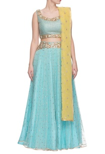 aqua-lemon-yellow-embroidered-lehenga-set