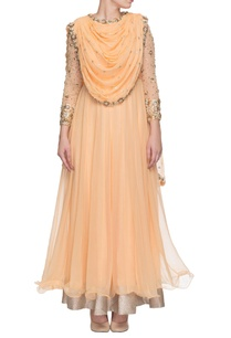 peach-embroidered-draped-anarkali-with-attached-dupatta