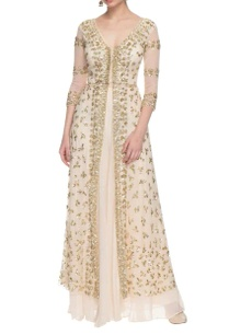 off-white-gold-sequin-embellished-palazzo-set