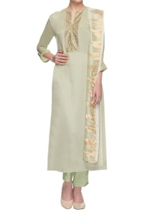 olive-green-gold-embellished-kurta-set