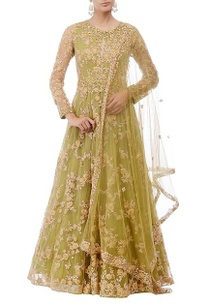 olive-green-gold-floral-embroidered-anarkali-set