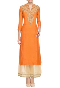orange-sequin-embroidered-kurta-with-palazzos