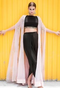 pink-embellished-cape-jacket-with-black-crop-top-dhoti-pants