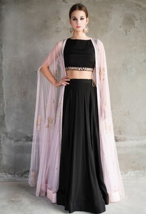 pink-embellished-cape-jacket-with-black-lehenga-set