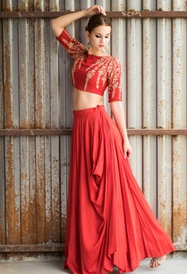 red-embroidered-cowl-lehenga-set