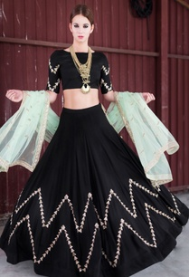 mint-green-black-embellished-lehenga-set