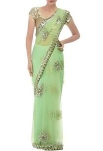pastel-green-floral-embellished-sari