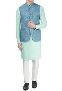 blue-printed-nehru-jacket
