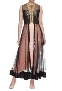 peach-black-anarkali-set-with-sequins