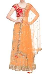 peach-floral-embroidered-lehenga-set