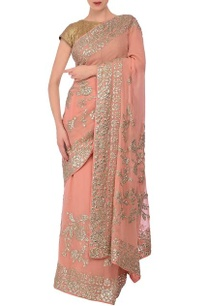 peach-sequin-embroidered-sari