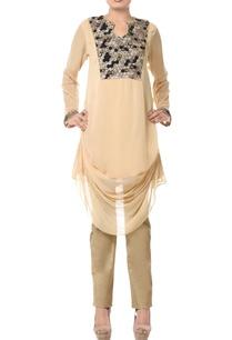 light-beige-embellished-kurta